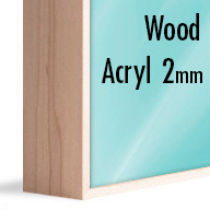 ArtBox Natural Wood (Mounted under 2mm Acrylic Glass)