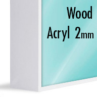 ArtBox White Wood (Mounted under 2mm Acrylic Glass)