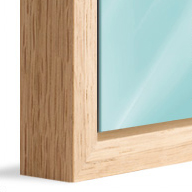 American Box Natural Oak Wood (Mounted under 2mm Acrylic Glass)
