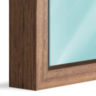 American Box Walnut Wood (Mounted under 2mm Acrylic Glass)