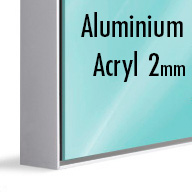 ArtBox Silver Aluminium (Mounted under 2mm Acrylic Glass)