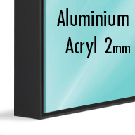 ArtBox Black Aluminium (Mounted under 2mm Acrylic Glass)