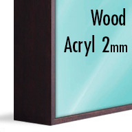 ArtBox Dark Brown Wood (Mounted under 2mm Acrylic Glass)