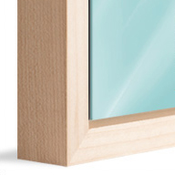 American Box Natural Wood (Mounted under 2mm Acrylic Glass)