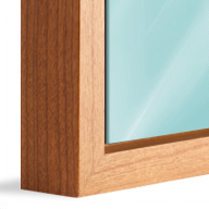 American Box Cherry Wood (Mounted under 2mm Acrylic Glass)